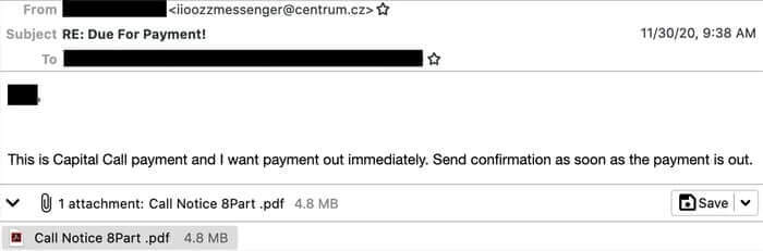 Wall Street targeted by new Capital Call investment email scammers