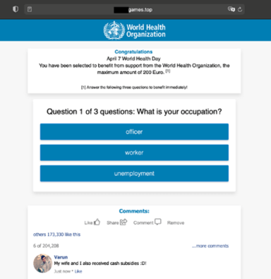 Saving World Health Day: UNICC and Group-IB take down scam campaign impersonating the World Health Organization