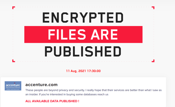 Accenture has been hit by a LockBit 2.0 ransomware attack